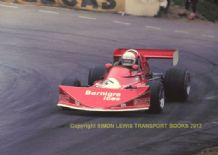 March 742 BDX  Val Musetti  Shellsport 5000 Mallory March 1976. action photo